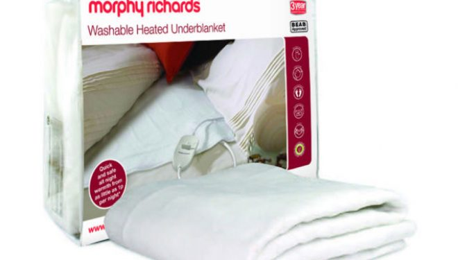 Morphy Richards 75183 Electric Single Heated Underblanket with 4 Heat Levels.