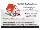 We will Buy Your House….